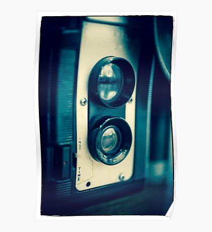 Vintage Twin Lens Reflex Camera Poster
