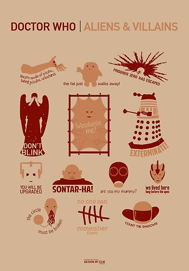 Doctor Who |Aliens & Villains by CLMdesign