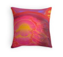 Abstract Digital Painting #34 - Crossed Hearts Rampage Throw Pillow