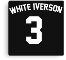 White Iverson - White Canvas Print