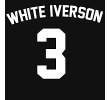 White Iverson - White Photographic Print