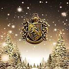 Hufflepuff Winter Crest by Serdd