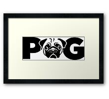 PUG Face by AiReal Apparel Framed Print