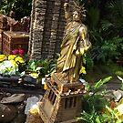 Model Statue of Liberty, Model Buildings, Model Trains, New York Botanical Garden Holiday Train Show, Bronx, New York, 2015 by lenspiro