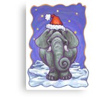 Elephant Christmas Canvas Print