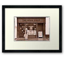 The Book Shop Framed Print