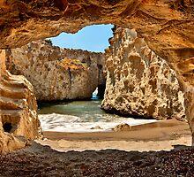 CaveBeach of Papafrangas by Hercules Milas