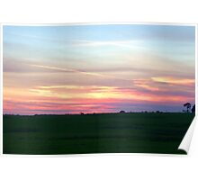 Sunset Fields Poster