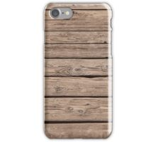 Old wooden boards iPhone Case/Skin