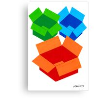 COLOURED MOVING BOXES Canvas Print