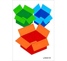 COLOURED MOVING BOXES Photographic Print