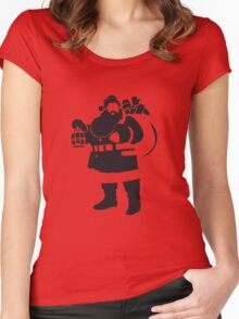 Santa Women's Fitted Scoop T-Shirt