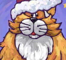 Ginger Cat Christmas Sticker