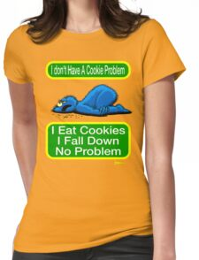 Cookie Monster has a Cookie Problem Womens Fitted T-Shirt