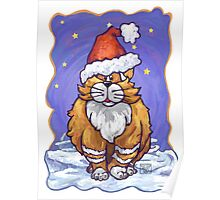 Ginger Cat Christmas Poster