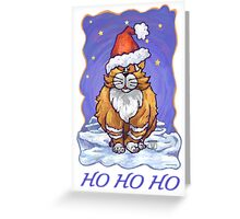 Ginger Cat Christmas Card Greeting Card