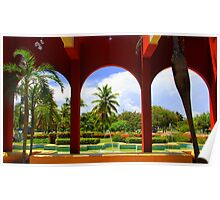 Archways to a beautiful world. Poster