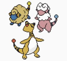 Mareep, Flaaffy and Ampharos Kids Clothes