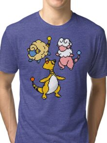 Mareep, Flaaffy and Ampharos Tri-blend T-Shirt
