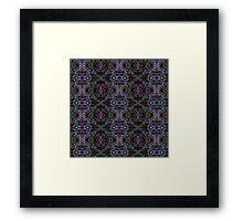 Neon grass pattern Framed Print