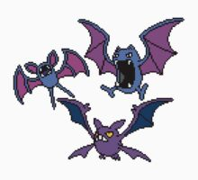 Zubat. Golbat and Crobat One Piece - Long Sleeve