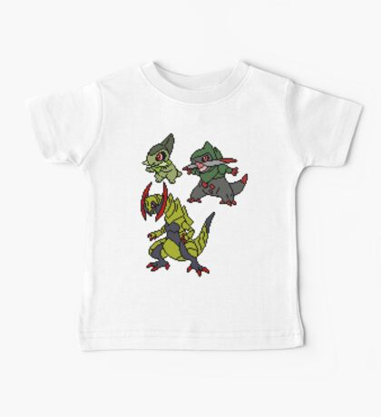 Axew, Fraxure and Haxorus Baby Tee