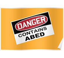DANGER: Contains Abed Poster