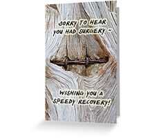 Speedy Recovery - Old Tree and Fence Greeting Card