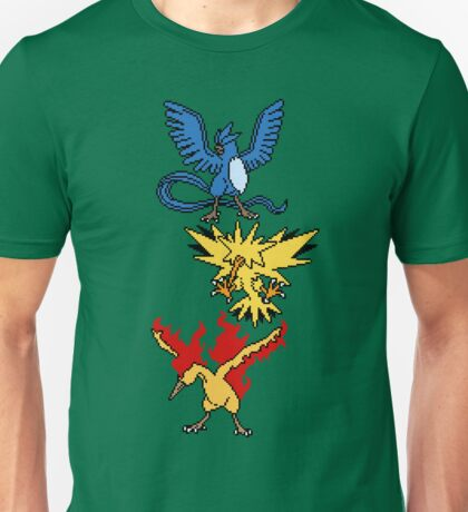 Articuno, Zapdos and Moltres Unisex T-Shirt