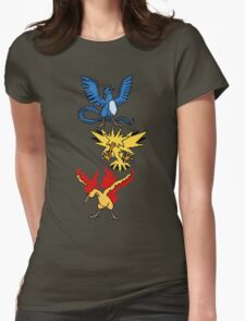 Articuno, Zapdos and Moltres Womens Fitted T-Shirt
