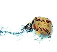 Baseball explosion  Photographic Print