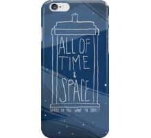 All Of Time and Space iPhone Case/Skin