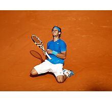 Rafael Nadal win his 6th French Open Tennis 2011 Photographic Print