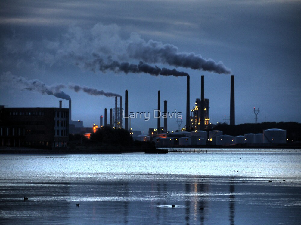 Morning Blue on the Aalborg Limfjord   (2) by Larry Lingard-Davis