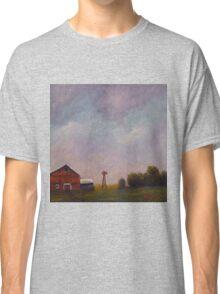 Windmill farm under a stormy sky. Classic T-Shirt