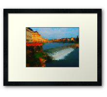 Firenze  bridges Framed Print