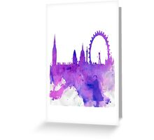 A Watchful Eye on London Greeting Card
