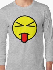 Sass Face Emoticon Long Sleeve T-Shirt