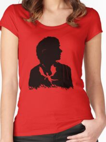 Never laugh at live dragons, Bilbo you fool! Women's Fitted Scoop T-Shirt