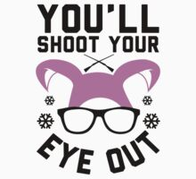 You'll shoot your eye out!  Christmas t shirt.  Geeky holiday Tee. by printproxy
