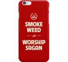 Smoke Weed - Worship Sagan iPhone Case/Skin