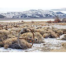 Ranching in the Black Rock Desert Photographic Print