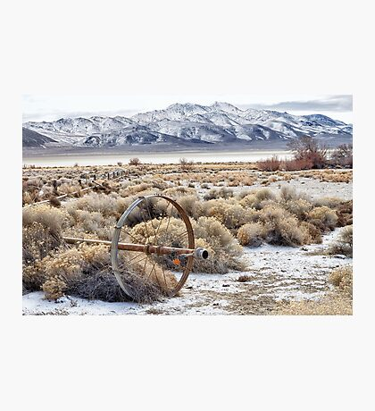 Ranching in the Black Rock Desert Photographic Print
