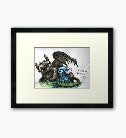 A Unique Friendship Framed Print
