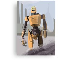 Scrapheap Skullbot. Metal Print