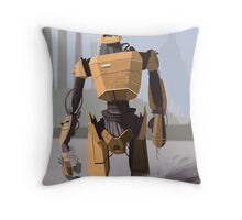 Scrapheap Skullbot. Throw Pillow