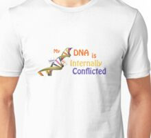 Internally Conflicted DNA Unisex T-Shirt