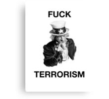 F Terrorism Canvas Print