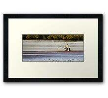 gone  Fishin ! Framed Print