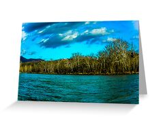 Bitter Cold Day on the Shenandoah River Greeting Card